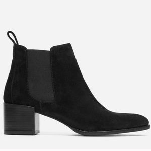 Everlane Black Suede Chelsea Ankle Boots